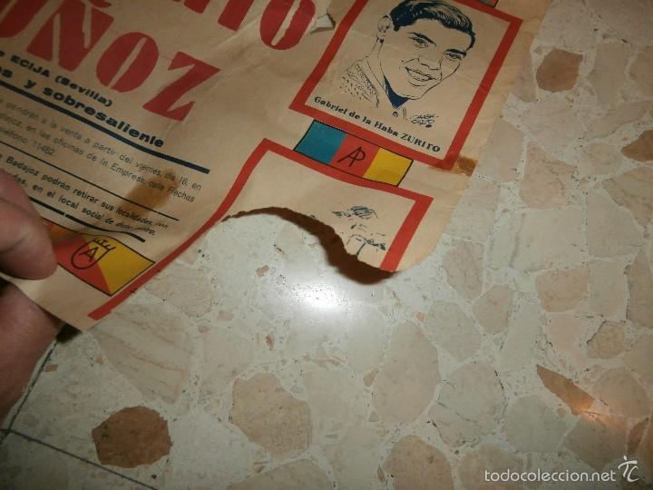 Carteles Toros: CARTEL DE TOROS PLAZA DE OLIVENZA , 1966 - Foto 6 - 57280930