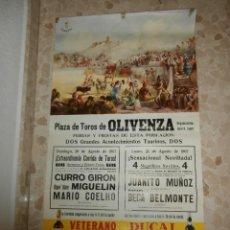Carteles Toros: CARTEL DE TOROS PLAZA DE OLIVENZA , 1967. Lote 57281109