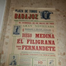 Carteles Toros: CARTEL DE TOROS PLAZA DE BADAJOZ , 1963. Lote 57281320