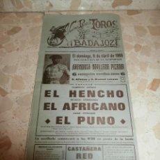 Carteles Toros: CARTEL DE TOROS PLAZA DE BADAJOZ , 1969. Lote 57281383