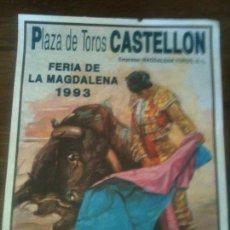 Carteles Toros: PLAZA DE TOROS DE CASTELLON-CORRIDA 1993. Lote 57343768
