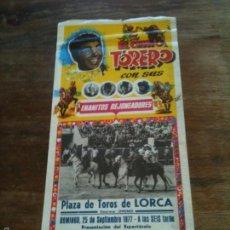 Carteles Toros: PLAZA DE TOROS DE LORCA ,MIDE 42X18 CM. Lote 57364459