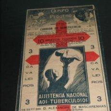 Carteles Toros: CARTEL DE TOROS DE PORTUGAL CAMPO PEQUENO 1930 CORRIDA BENEFICENCIA . Lote 57558675
