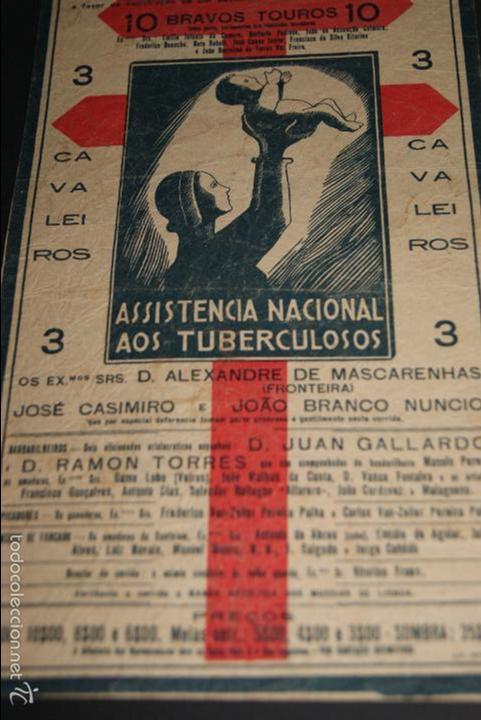 Carteles Toros: CARTEL DE TOROS DE PORTUGAL CAMPO PEQUENO 1930 CORRIDA BENEFICENCIA - Foto 2 - 57558675