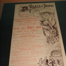 Carteles Toros: CARTEL DE TOROS DE PORTUGAL ALGES 15 DE DICIEMBRE DE 1895. Lote 57558769