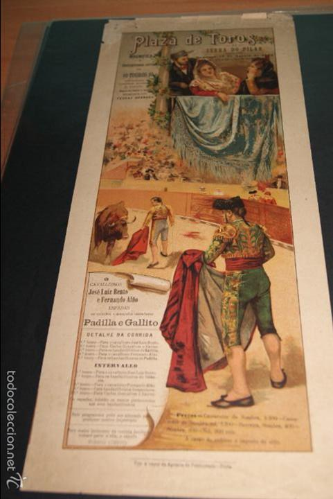 CARTEL DE TOROS DE PORTUGAL SERRA DO PILAR 10 AGOSTO 1902 (Coleccionismo - Carteles Gran Formato - Carteles Toros)