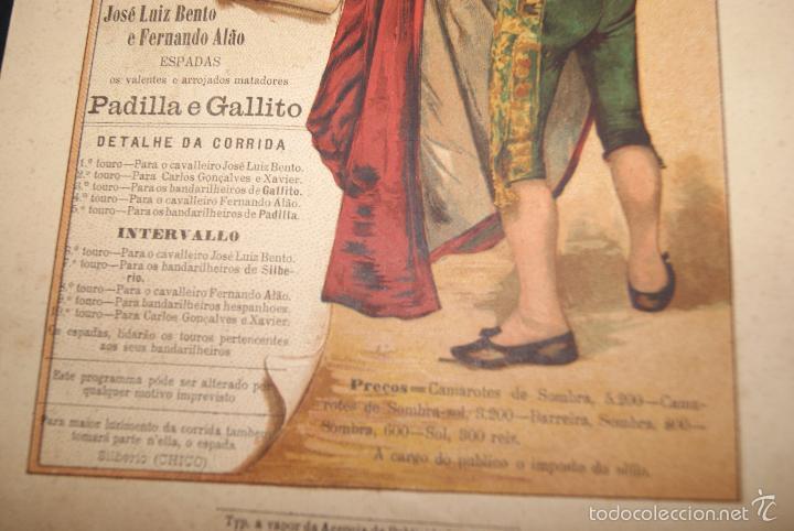 Carteles Toros: CARTEL DE TOROS DE PORTUGAL SERRA DO PILAR 10 AGOSTO 1902 - Foto 4 - 57558884