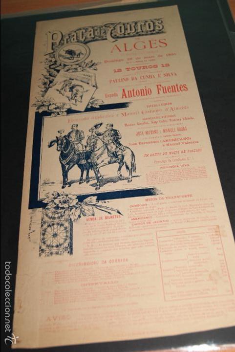 CARTEL DE TOROS DE PORTUGAL ALGES 26 MAYO 1895 (Coleccionismo - Carteles Gran Formato - Carteles Toros)