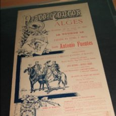 Carteles Toros: CARTEL DE TOROS DE PORTUGAL ALGES 26 MAYO 1895 . Lote 57558939