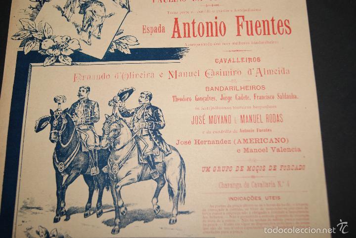 Carteles Toros: CARTEL DE TOROS DE PORTUGAL ALGES 26 MAYO 1895 - Foto 3 - 57558939