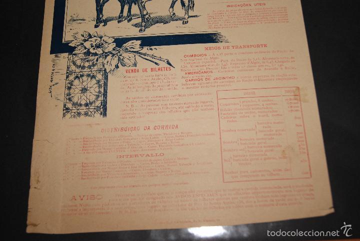 Carteles Toros: CARTEL DE TOROS DE PORTUGAL ALGES 26 MAYO 1895 - Foto 4 - 57558939