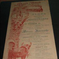 Carteles Toros: CARTEL DE TOROS DE PORTUGAL ALGES 28 DE MAYO 1897. Lote 57558984