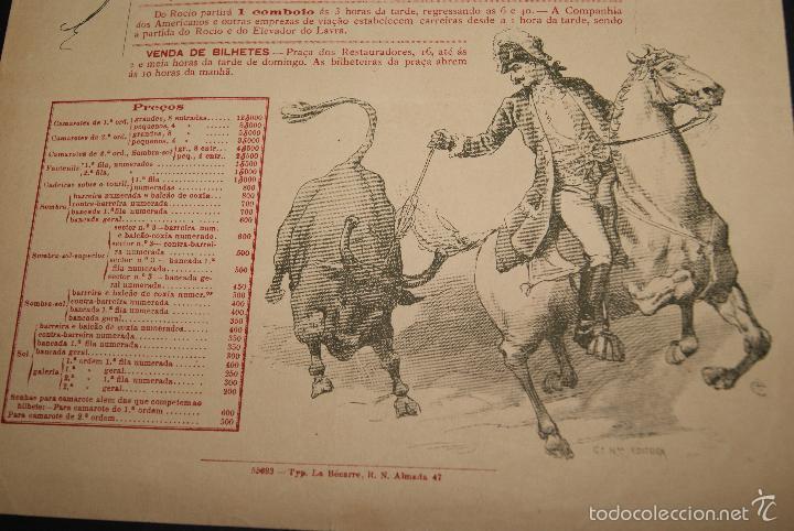 Carteles Toros: CARTEL DE TOROS DE PORTUGAL CAMPO PEQUENO LISBOA 23 DE ABRIL DE 1893 - Foto 3 - 57559039