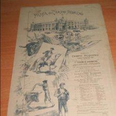 Carteles Toros: CARTEL DE TOROS DE PORTUGAL CAMPO PEQUENO LISBOA 21 AGOSTO 1892 ALTERNATIVA DE CASIMIRO DE ALMEIDA . Lote 57559202