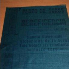 Carteles Toros: CARTEL DE TOROS DE MADRID .GRAN CORRIDA DE BENEFICENCIA 23 DE ABRIL 1936. Lote 57567295