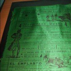 Carteles Toros: CARTEL DE TOROS DE LUCENA CORDOBA 15 AGOSTO 1933 SEDA . Lote 57592768