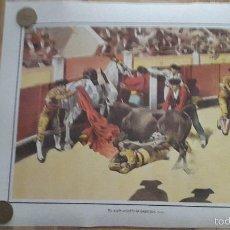 Carteles Toros: LAMINA TOROS - TORERO - PEREA - UN QUITE NOTABLE DE LAGARTIJO - VER DESCRIPCION. Lote 57918264