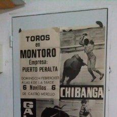 Carteles Toros: CARTEL DE TOROS DE MONTORO DEL AÑO 1971. Lote 58119343