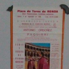 Carteles Toros: CORRIDA GOYESCA DE RONDA DE 1980. Lote 58119848