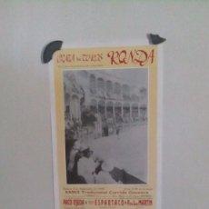 Carteles Toros: CARTEL DE TOROS DE RONDA DEL AÑO 1992. Lote 58247503