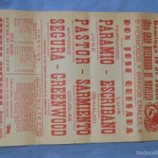 Carteles Toros: CARTEL PLAZA TOROS MÁLAGA - 19 JUNIO - BECERRADA DE NÓVELES - CERVEZA VICTORIA 1960. Lote 58277103