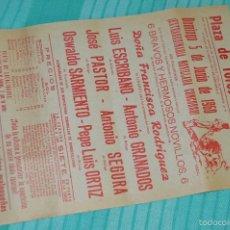 Carteles Toros: DOMINGO, 5 DE JUNIO DE 1960 - CARTEL DE TOROS ORIGINAL - PLAZA DE TOROS DE MÁLAGA. Lote 58334553