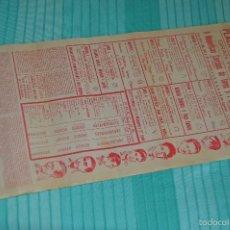 Carteles Toros: GRAN FERIA DE MÁLAGA DE 1962 - 9 DÍAS - CARTEL DE TOROS ORIGINAL - PLAZA DE TOROS DE MÁLAGA. Lote 58334658