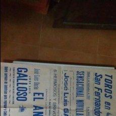 Carteles Toros: CARTEL DE TOROS DE SAN FERNANDO AÑO 1969. Lote 56928361