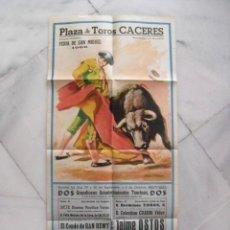Carteles Toros: CARTEL PLAZA TOROS DE CÁCERES. JAIME OSTOS, EL CORDOBÉS. FERIA DE SAN MIGUEL 1966.. Lote 58675548