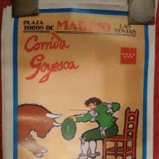 Carteles Toros: CARTEL Y FOLLETO DE MANO DE LA GOYESCA DE 1997 CESAR RINCÓN ENRIQUE PONCE . Lote 58712124
