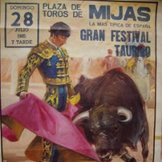 Carteles Toros: PLAZA DE TOROS DE MIJAS 1985. Lote 59137735