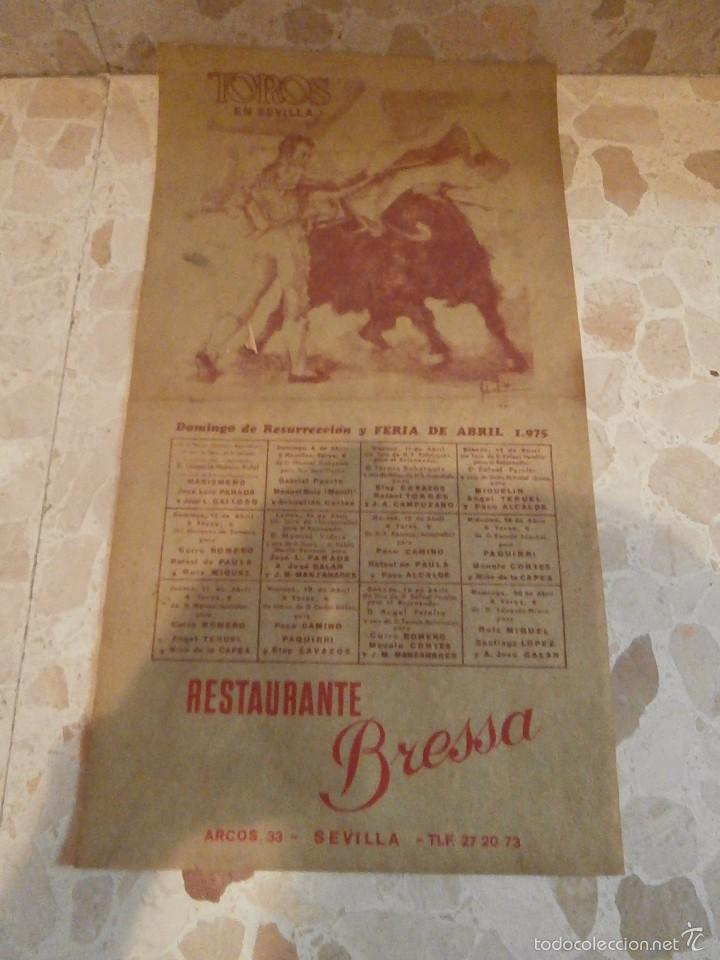 CARTEL DE TOROS PLAZA DE SEVILLA, 1975 (Coleccionismo - Carteles Gran Formato - Carteles Toros)