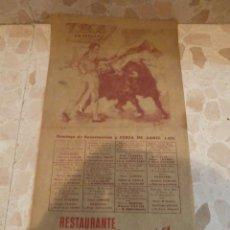 Carteles Toros: CARTEL DE TOROS PLAZA DE SEVILLA, 1975. Lote 59465540