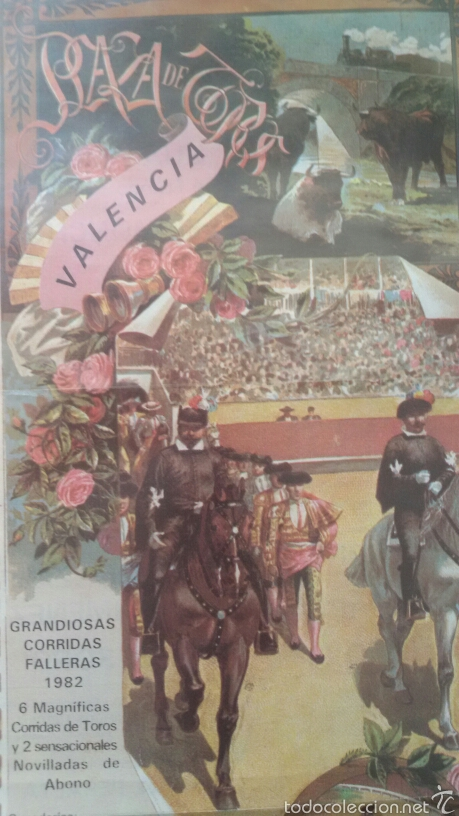 GRANDIOSA CORRIDA TOROS VALENCIA 1982. (Coleccionismo - Carteles Gran Formato - Carteles Toros)