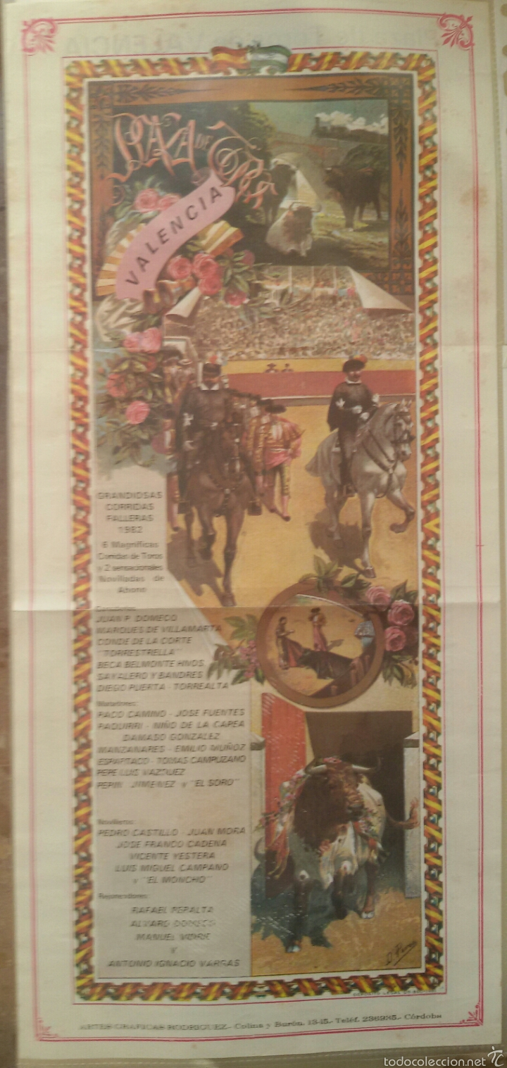 Carteles Toros: Grandiosa Corrida Toros Valencia 1982. - Foto 2 - 59655057
