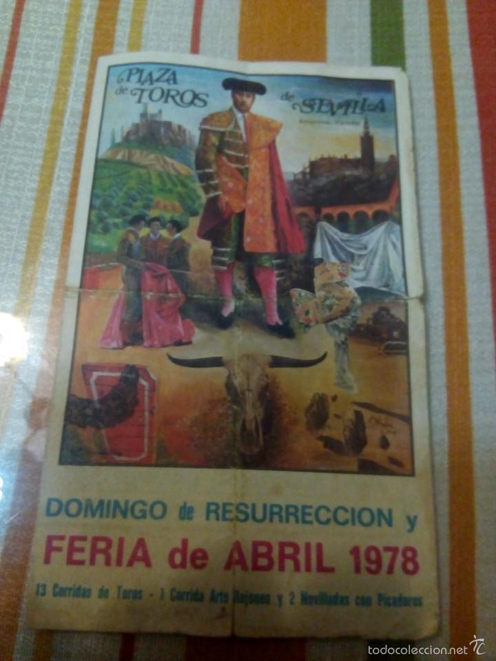 CATEL DE MANOS FERIA DE ABRIL 1978 DOMINGO DE RESURRECCION (Coleccionismo - Carteles Gran Formato - Carteles Toros)