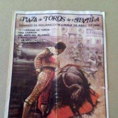 Carteles Toros: CARTEL DE MANO FERIA DE ABRIL DOMINGO DE RESURRECCIÓN 1985. Lote 59692455