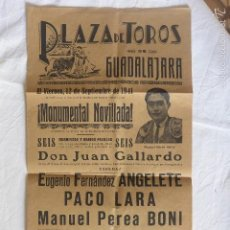 Plakate Stiere - CARTEL PLAZA TOROS GUADALAJARA 12 SEPTIEMBRE 1941 - 59722715