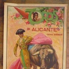 Carteles Toros: CARTEL TOROS EN ALICANTE. 1932., 110 X 59 CM.-. Lote 59953295