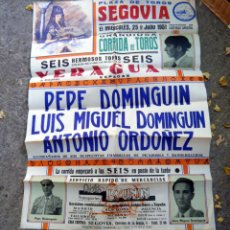 Carteles Toros: CARTEL DE TOROS PLAZA DE SEGOVIA 25 JULIO 1951. Lote 60071863