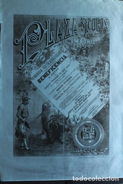 CARTEL DE TOROS DE MADRID. BENEFICENCIA. 16 DE JUNIO DE 1901. MAZZANTINI, CONEJITO, MAZZANTINI (Coleccionismo - Carteles Gran Formato - Carteles Toros)