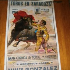Carteles Toros: ((CARTEL TAURINO))-TOROS EN ZARAGOZA-TEMPORADA 1980. Lote 67538717