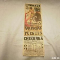 Carteles Toros: CARTEL CORRIDA DE TOROS EN VINAROZ 3-AGOSTO-1974. Lote 68162713