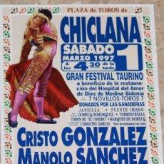 Carteles Toros: CARTEL DE TOROS CHICLANA 1997. Lote 68958885