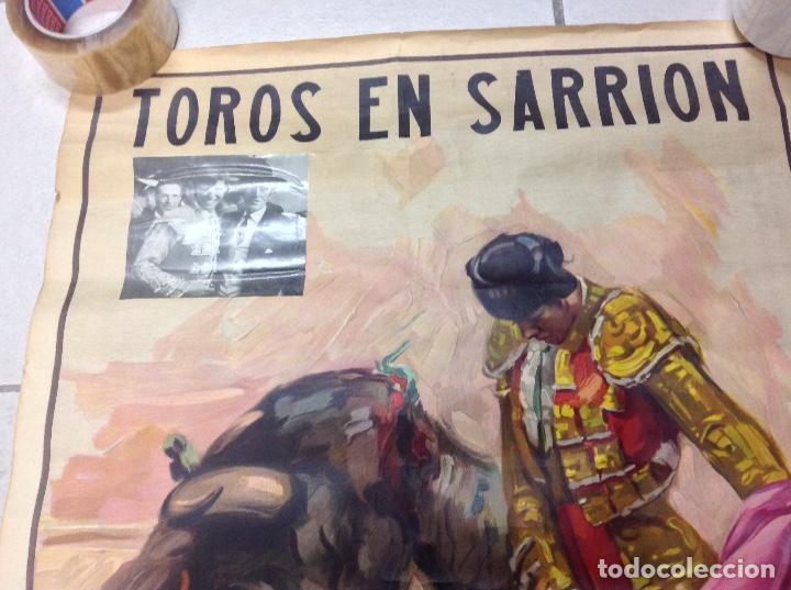 Carteles Toros: TOROS EN SARRION 1971 CARTEL TAURINO LITOGRAFIA DE JOSE CROS ESTREMS LIT. ORTEGA - Foto 2 - 69107077
