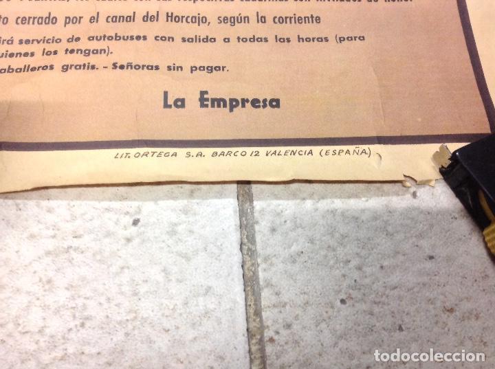Carteles Toros: TOROS EN SARRION 1971 CARTEL TAURINO LITOGRAFIA DE JOSE CROS ESTREMS LIT. ORTEGA - Foto 6 - 69107077