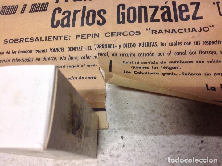 Carteles Toros: TOROS EN SARRION 1971 CARTEL TAURINO LITOGRAFIA DE JOSE CROS ESTREMS LIT. ORTEGA - Foto 7 - 69107077