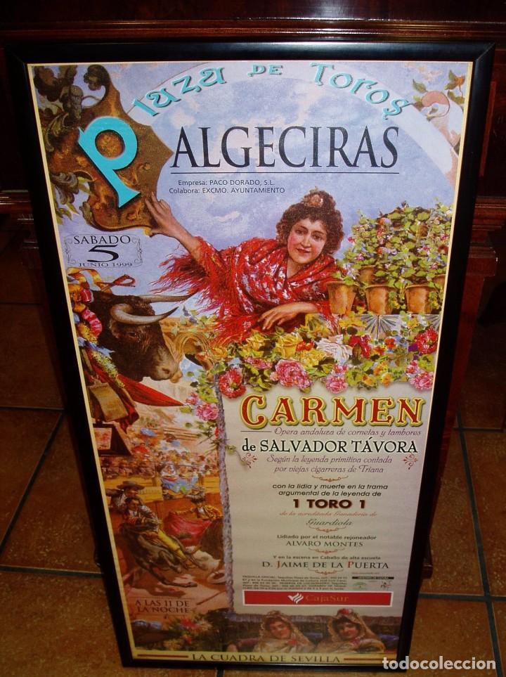 LITOGRAFÍA CARTEL DE TOROS DE ALGECIRAS, 1999, ENMARCADO (Coleccionismo - Carteles Gran Formato - Carteles Toros)