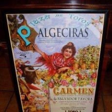 Carteles Toros: LITOGRAFÍA CARTEL DE TOROS DE ALGECIRAS, 1999, ENMARCADO. Lote 69683749