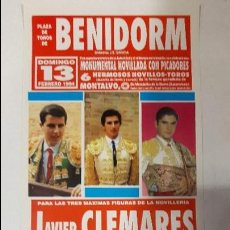 Carteles Toros: CARTEL TOROS NOVILLADA BENIDORM 1994. Lote 71769747